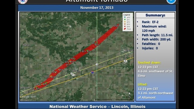 Weather Vault:  11/17/13; Altamont Tornado