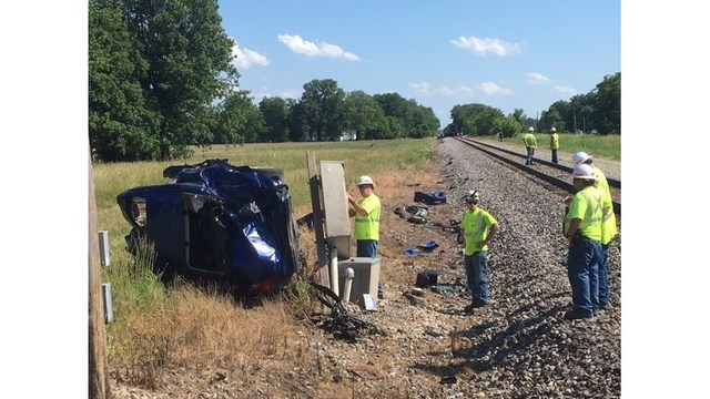 1 dead after crash involving vehicle and Amtrak train