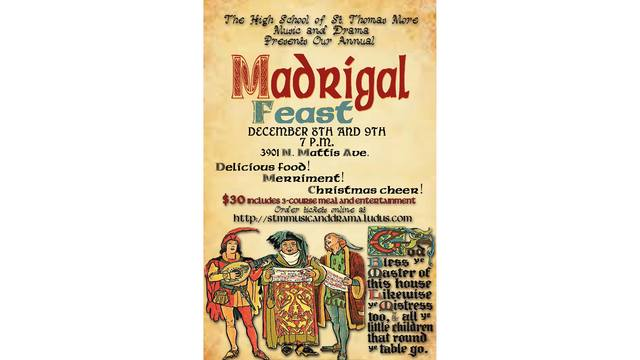 The High School of St. Thomas Madrigals Dinner in December
