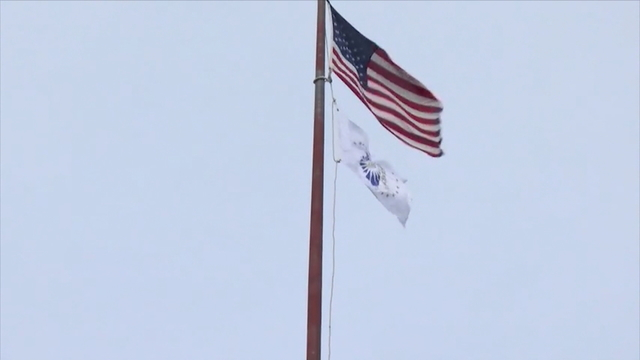 Carbondale Raises Illinois Bicentennial Flag