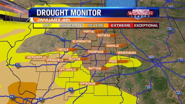 Increased Drought on the Drought Monitor