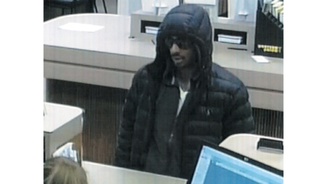 Suspect wanted in series of bank robberies