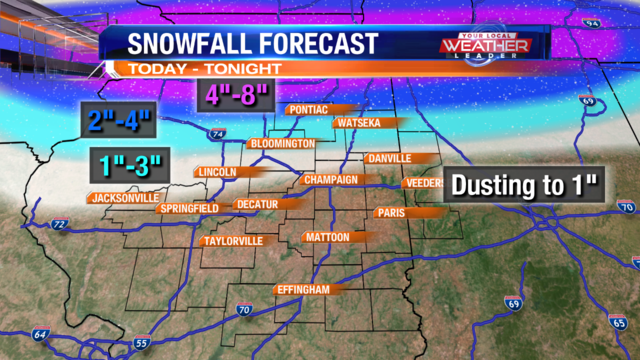 Friday Snow For Northern Counties