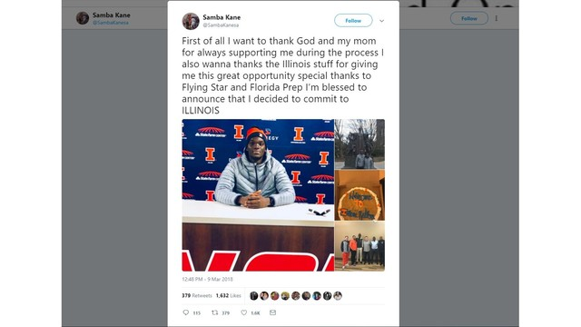 Fighting Illini men's basketball land third member of 2018 recruiting class
