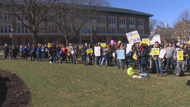Classes canceled when grad students strike