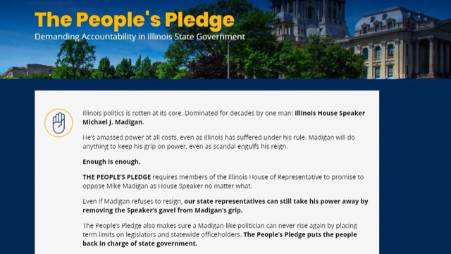Rauner responds with pledge of his own
